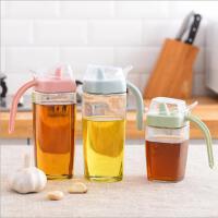 创意厨房用品大容量玻璃防漏调味瓶密封透明油壶酱油醋瓶