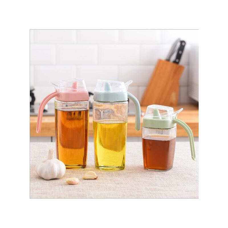 创意厨房用品大容量玻璃防漏调味瓶密封透明油壶酱油醋瓶 满68元包邮