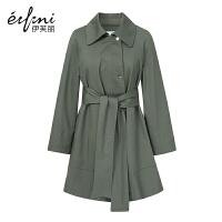 【商场同款】伊芙丽冬装新款韩版蝙蝠型外套宽松长袖风衣女