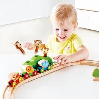 Hape儿童模型玩具火车轨道丛林音乐套18M+