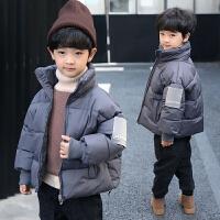 童装男童外套冬装儿童男孩中大童棉袄潮