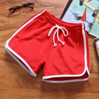 个性荧光绿橘红色大红男士糖果色短裤睡裤女生训练裤沙滩裤速干