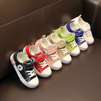 儿童帆布鞋男童春秋白鞋子软底布鞋