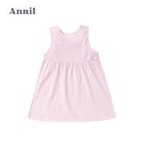 安奈儿童装夏季新款女童婴幼童纯棉短袖连衣裙YG821678