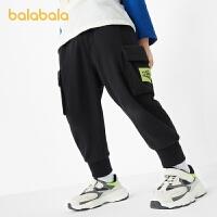 巴拉巴拉儿童裤子男童长裤宝宝童装2021新款春装时尚工装慢跑裤潮