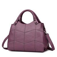 包包女新款手提包中老年妈妈包软皮单肩斜挎包时尚百搭斜背包