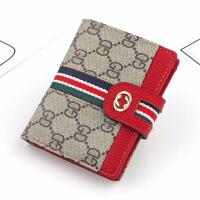新款女士短款钱包 韩版休闲GD小卡包 双C织带时尚零钱包 批发直销
