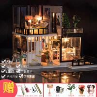 【新品】diy小屋阁楼别墅手工制作迷你小房子模型拼装艺术屋创意生日礼物