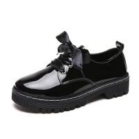 女鞋2019新款春季小皮鞋女韩版百搭夏天单鞋厚底中跟鞋子女学生潮
