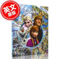 现货 迪斯尼 冰雪奇缘 儿童趣味绘本 迪斯尼同名电影 英文原版 Disney Frozen ( Look and Fi