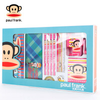 Paul Frank/大嘴猴 文具礼盒PKY8196 颜色随机男女小学生学习文具套装 幼儿园生日圣诞新年礼物礼品 当当