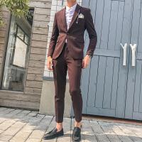 西服套装男韩版修身英伦风男士休闲结婚礼服青年潮流小西装
