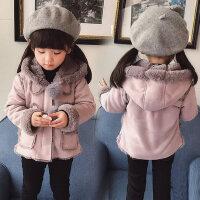 2018新款1-3岁5-6儿童秋冬装宝宝保暖棉衣童装女童加绒外套