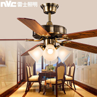 雷士照明风扇灯 餐厅客厅卧室儿童吊扇灯 欧式复古简约家用灯具