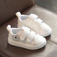 儿童运动鞋男女童小白鞋宝宝休闲鞋中大童表演鞋白色板鞋春秋新款 白色 YQFF01