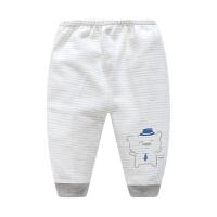 婴儿秋裤纯棉宝宝可开裆裤子男女童条纹打底裤初生新生儿长裤单条