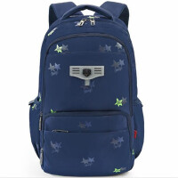 迪士尼中小学生书包 0443分层双肩包 深蓝色背包 韩版校园休闲包