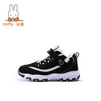 Miffy米菲秋冬儿童熊猫鞋黑白童鞋男童女童二棉鞋男孩运动鞋