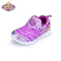 【99元任选2双】迪士尼Disney童鞋女童运动鞋套脚休闲户外运动鞋(5-10岁可选)DS3502 DH0405 S7