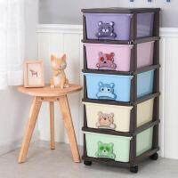 门扉 玩具收纳盒 创意可爱卡通组装抽屉式儿童物品储物箱储物柜宝宝衣柜家居日用整理箱