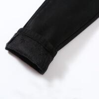 加绒牛仔裤女黑色九分裤冬2018新款韩版显瘦长裤高腰加厚小脚裤子