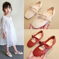 女童鞋子秋鞋儿童皮鞋奶奶鞋韩版单鞋公主秋季豆豆鞋