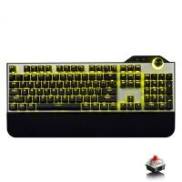 至乐 E15 真机械键盘 青轴(背光游戏金属104键 黑轴青轴红轴茶轴 刺激战场)