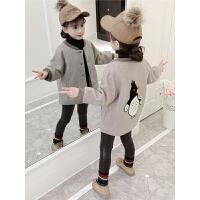 女童毛呢外套秋冬装洋气潮宝宝儿童呢子大衣