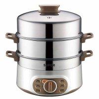 多功能家用不锈钢电蒸锅大容量 家用三层大容量蒸锅 笼 菜火锅器