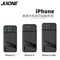 JUNDNE 适用iPhoneXsMax XR手机镜头广角鱼眼微距长焦单反手机壳拍摄镜头 iPhone XR