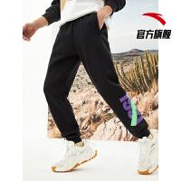 【到手价143】安踏运动裤男士长裤2021官方正品春季新款针织休闲裤子152111307