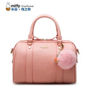 Miffy米菲2016新款波士顿包手提包 时尚斜挎单肩包女包包袋潮