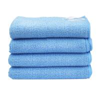 双馨 超细纤维擦巾(天蓝色) 纤维擦布 清洁布 擦拭巾 擦巾 毛巾 天蓝色(30*30cm) 2.99元/条