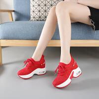 内增高女鞋坡跟休闲鞋女百搭2019新款春夏秋季运动鞋小白女韩版跑步鞋