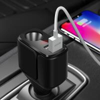 领臣车载充电器单点烟器双USB点烟式车充3.4A闪充汽车 双USB