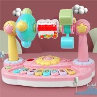 儿童多功能花朵旋转动物音乐琴 婴幼儿乐园玩具琴音乐钢琴电子琴