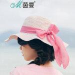 【5折价39.5】茵曼遮阳帽防紫外线防晒帽太阳帽海边沙滩帽休闲凉帽【1872191080】