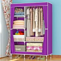 加固布衣柜 钢管加粗加厚简易衣柜防尘组装折叠组合布衣橱