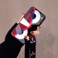 玻璃xs max苹果x手机壳XR硅胶7plus挂绳iphone6s8p个性创意女 6/6s 4.7寸