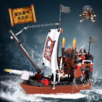 小白龙积高海盗船积木复仇者号帆船儿童冒险益智塑料积木拼装玩具