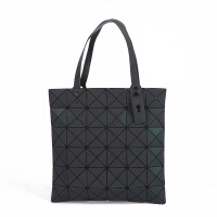 新款时尚菱格手提包PU夜光女式包休闲潮流女包夜光手提包6*6批发 黑色