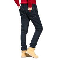 男童加绒牛仔裤秋冬装儿童休闲裤中大童铅笔裤