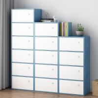 【限时直降3折】北欧书柜书架组合简约置物架日式客厅落地简易小书架储物柜置物柜