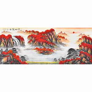 当代著名画家薛永178 X 67CM山水画gs01539