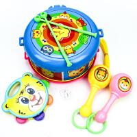 北国e家 儿童乐器益智敲打玩具 婴幼儿玩具0-1-3岁 摇铃组合套装可收纳拍拍鼓9401-大号