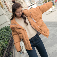 短款棉衣女2018新款冬季韩版学生宽松百搭面包服连帽保暧羽绒外套