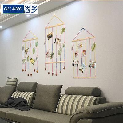 固乡 卧室照片墙 木质工作室居家装饰简约小清新置物架 壁挂个性装饰