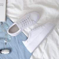 2019春季新款韩版百搭学生系带显瘦白鞋松糕增高厚底小白鞋女