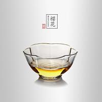当当优品 描金樱花平光品茗杯 光阴系列 手工高硼硅玻璃茶杯 功夫茶具 60ml