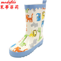 茉蒂菲莉 儿童雨鞋 男女宝宝春夏款防滑雨靴中筒橡胶鞋防水小孩男童女童水鞋子